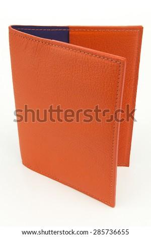 Leather Passport Case - stock photo