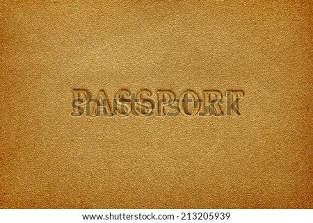 leather passport cover background - stock photo