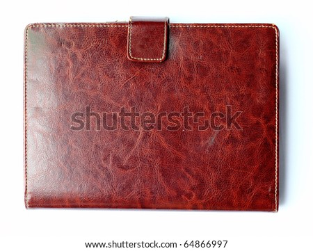 Leather pattern notebook - stock photo