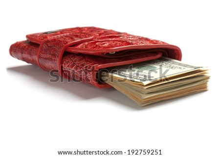 Leather purse cards isolated on a white background. S Studio photo - stock photo
