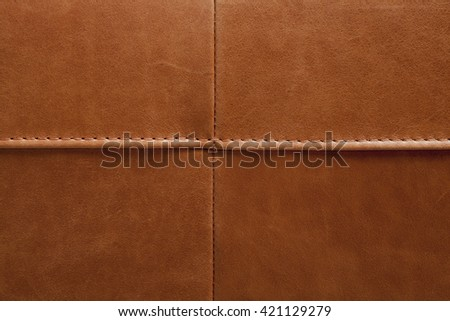 leather sample - stock photo