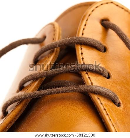 leather shoe - stock photo