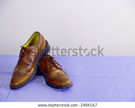 leather shoes - stock photo