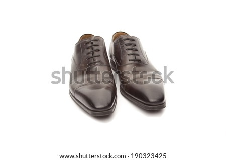 leather shoes isolated on white background
