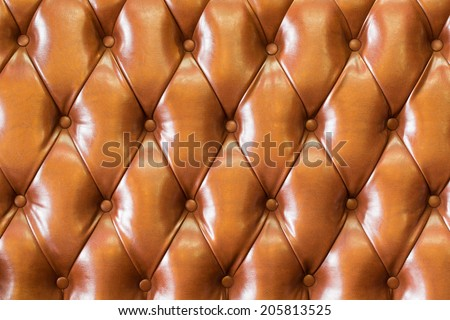 leather sofa background in the hotel - stock photo
