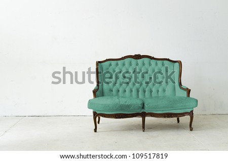 leather sofa in white room
