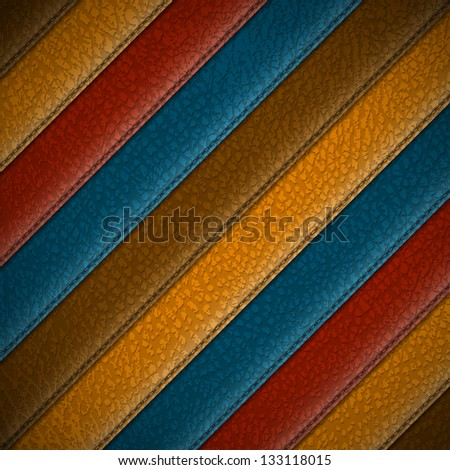 Leather stripes - abstract background - raster version - stock photo