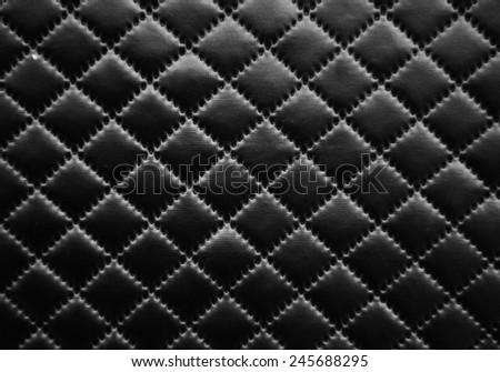 leather textrue - rhombus - stock photo