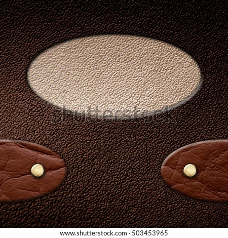 leather texture background 3D illustration