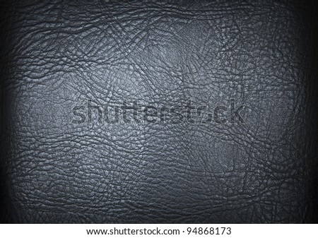 leather texture black background - stock photo