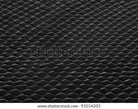 leather texture black background,snake leather - stock photo