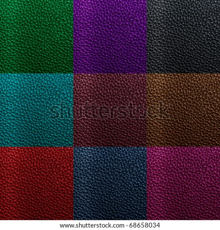 leather texture collection - stock photo