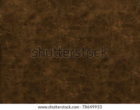 Leather texture of brown color - stock photo