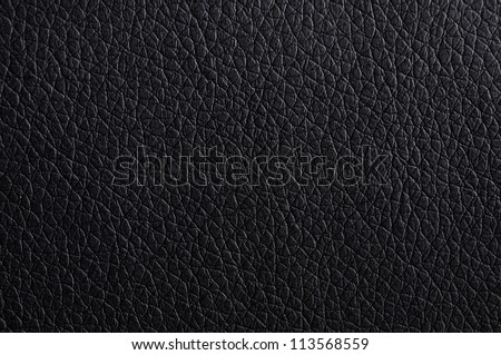 leather texture or background in black with copyspace - stock photo