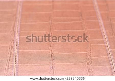 Leather texture pattern - stock photo
