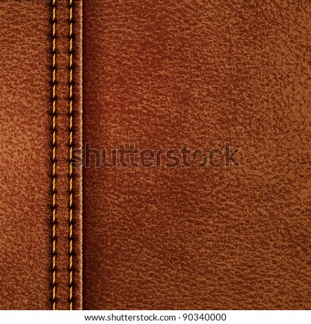 Leather texture. Raster copy of vector illustration - stock photo