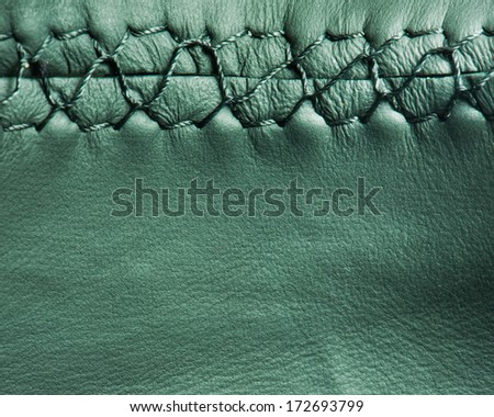 leather texture with stiches - stock photo