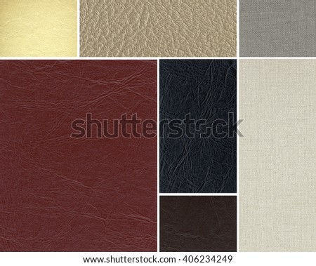 Leather textures set