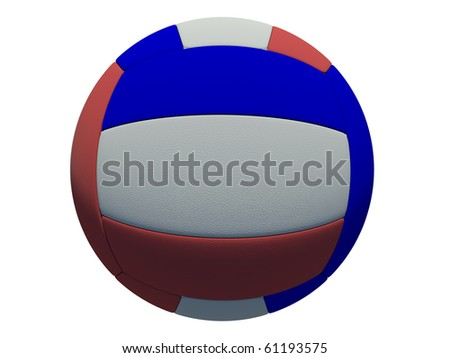 leather volleyball ball on isolated background - stock photo