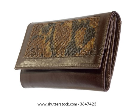 Leather wallet - stock photo