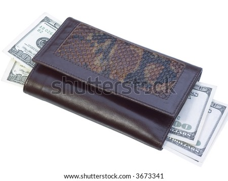 Leather wallet and dollars