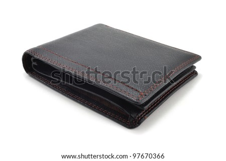leather wallet on a white background