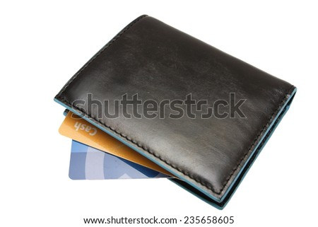 leather wallets - stock photo