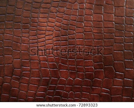 Leather with crocodile dressed texture. - stock photo