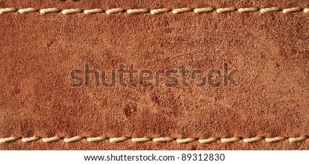 leather with seam, belt background. - stock photo
