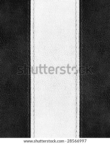 leather with stitch background - stock photo