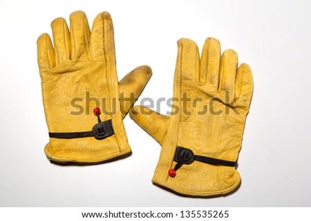 Leather Work Glove - stock photo