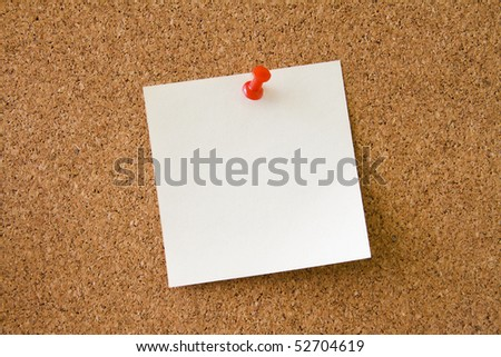 Leave a Message on the notice board. Corkboard background. - stock photo