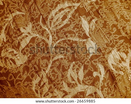 Leaves and Vines in Sepia - stock photo