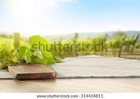 leaves desk and table of free space  - stock photo