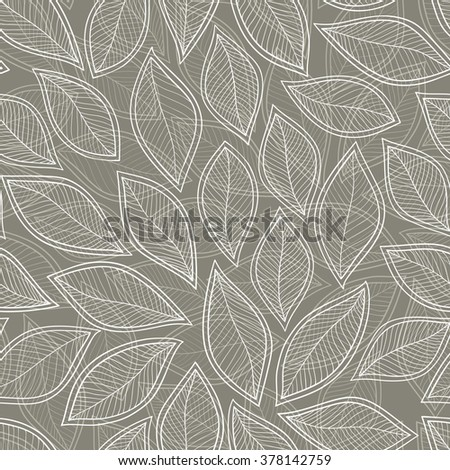 Leaves seamless pattern background. Elegant texture for backgrounds. Floral ornament, seamless texture for wallpapers, textile, wrapping.