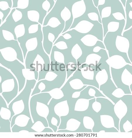 Leaves Seamless Pattern. Raster version - stock photo
