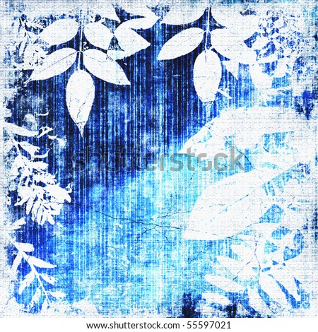 Leaves Silhouette Grunge - stock photo