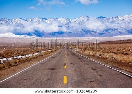 Leaving Death Valley - stock photo