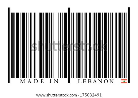 Lebanon Barcode on white background