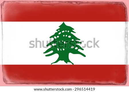 Lebanon national flag - stock photo