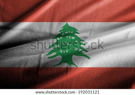 Lebanon waving flag  - stock photo