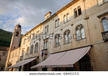 Lector's Palace at dusk - Dubrovnik, Croatia - stock photo