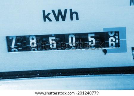 lectricisy meter - stock photo