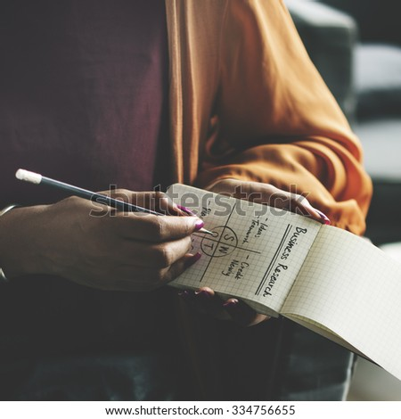 Lecture Writing Swot Analysis Memo Concept - stock photo