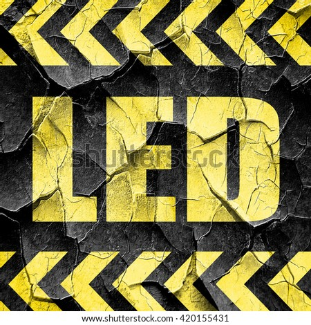 led, black and yellow rough hazard stripes
