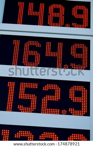 LED board - stock photo