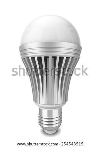 Led bulb. 3d illustration isolated on white background  - stock photo
