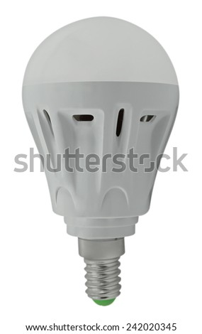 LED bulb isolated on white background. Clipping path included. - stock photo