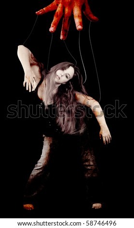 Led By A Puppeteer Conceptual Image - stock photo