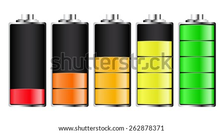 LED charging batteries. Raster. Raster.  - stock photo